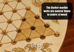 Grands p carreaux chinois de haute qualité avec 16mm 5 8 designer Marbles- Flower Pattern, Laser Engraved, 18 5 8 Dia x 5 8 d épaisseur, Paul Szewc