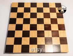 Handcrafted Competition Sized Maple Walnut 14 Inch 18 Inch Hardwood Chess Board Chess Board Wooden Chess Board Cadeau d anniversaire de Noël
