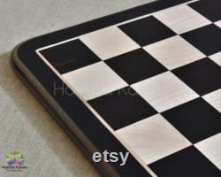 Hastha Kalalu Ebonywood Tournament Chess Board handmade 19 (50 mm) et 21 (55 mm)
