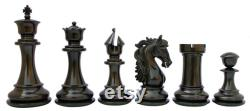 Heritage Series 4.4 Premium Staunton Ebony and Box Wood Chess Set