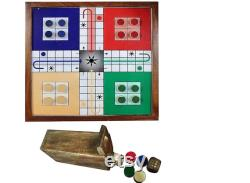 Indian Handicrafts Magnetic Ludo Travel Board Game Handmade Wooden Classic Ludo Set Strategy Fun Game,Indoor Game.Free Shipping In USA UK.