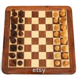JEU DE JEU DE JEU DE JEU EN BOIS PLAT PERSONNALISÉ D ÉCHECS Fabriqué à la main avec des pièces d échecs staunton boîte d échecs