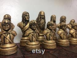 Jeu d échecs Lord of the Rings LOTR Chess Set Handmade (Pièces d échecs seulement)