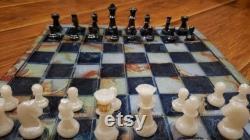 Jeu d échecs Set, Échecs, Game Board, Gameboard, Queens, Queen, King, Chess Game, Chess, made in the USA