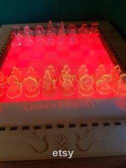 Jeu d échecs Set Games of Thrones avec lumière