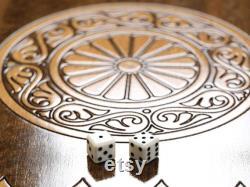 Jeu d'échecs-backgammon de luxe, plateau personnalisé sculpté 4 tailles