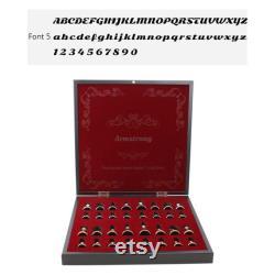 Jeu d échecs de 13,7 pouces Ensemble d échecs de luxe personnalisé Chrome Plaqué boîte d échecs personnalisé Échiquier en bois et figurines d échecs en métal Ensemble