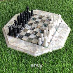 Jeu d'échecs de tournoi échiquier en marbre pièces d'échecs en pierre