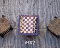 Jeu d échecs en bois, échiquier, échiquier, bois de thuya, échecs faits main, échiquier marocain,