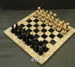 Jeu d échecs en marbre fait main Indoor Adult Chess Game Marble Chess Board Handcraft 12 x 12 Premium Top Quality Chess Board