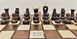 Jeu d échecs et de tiroirs en bois 35 x 35 Woodeeworld