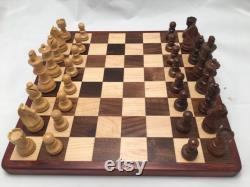 Jeu d échecs fait à la main, Échiquier en bois, Damier, Jeux de société en bois, Échecs, Noël
