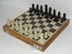 Jeu d échecs fait main en bois de 14 avec le cadeau de collection de pièces d échecs pour le cadeau de Noël d amoureux d échecs
