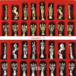 Jeu d échecs fait main, jeu d échecs vintage, jeu d échecs, jeu d échecs personnalisé, ensemble d échecs unique, jeu d échecs fait main, vieux jeu d échecs, jeu d échecs de Rome