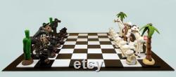 Jeu d échecs mexicain, Échecs thématiques, Charros, Mariachi, Artisanat, Funny Chess, Love for México, Chess for gift, Folk mexicain, Collectionneur d échecs