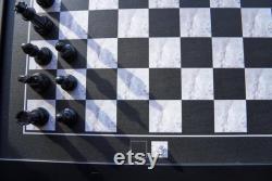 Jeu d échecs noir Jeu d échecs magnétique Jeu de société suspendu Jeu d échecs Échecs magnétiques Jeu de société unique Soirée de jeu en famille