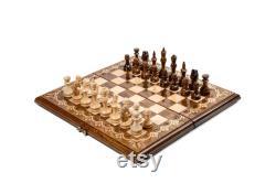 Jeu d échecs personnalisé, Classique de l échiquier en bois, option de livraison express gratuite