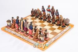 Jeu d échecs tribal africain Zoulou Ndebele