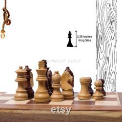 Jeu d échiquier De voyage magnétique en bois pliant ensemble Golden Rosewood Hand con u avec Des pièces d échecs Staunton stockage spécial de fentes dans le conseil