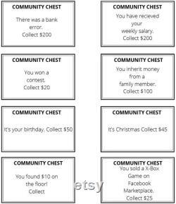 Jeu de société Monopoly personnalisé Un Cadeau d anniversaire Cadeau d' Saint-Valentin Noël