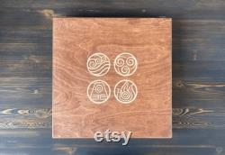 Jeu de société Pai Sho en boîte Avatar the Last Airbender 2 joueurs Planche et 108 carreaux en bois dans une boîte-cadeau en bois Skud Pai Sho