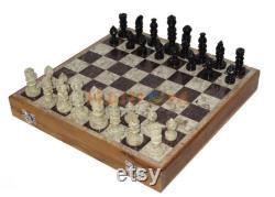 Jeu portatif de voyage d'échecs de modèle de marbre pliable de 12 pour des adultes