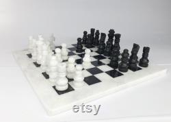 Jeux d échecs en marbre personnalisé, jeu d échecs en marbre, gambit de la reine, échiquier en marbre, échecs en pierre, cadeau, échecs, jeu d échecs avec échiquier