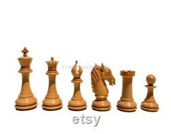 Les pièces d échecs de luxe en bois staunton de la série Ambassador 4.4 King Matte Finish pièces d échecs de luxe The Chess Empire
