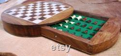 Light Infantry Round Chess Set With Magnetic Board Pièces d échecs GRATUIT Gravure Cadeau ME38