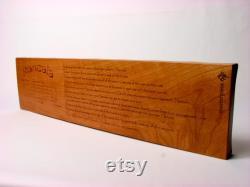 Mancala de luxe, grand bois de cerise massif, jeu de plateau en bois, Paul Szewc, laser de chef-d uvre