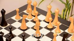 Minimaliste Hermann ohme jeu d échecs pondérés dans Dyed Stained boxwood côté plus sombre boîte naturelle bois extra queens livraison gratuite