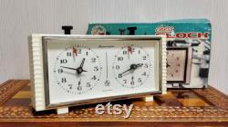NOS Horloge d échecs Jantar.Chess Timer. vintage échecs soviétiques. Horloge blanche d échecs URSS. Tournoi Chess Clock.Antique Chess.Mechanical Chess Clock