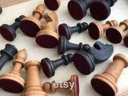 New Wooden Chess Large 19 Inch Game Set Weighted Beech Pieces Foldable Board Beautiful Tournament vintage Style Russian Chessmen Handmade