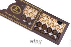Ours arménien de backgammon fait main et backgammon de cerf à deux côtés avec le contour des montagnes marque Hrachya Ohanyan 24 x 24 x 2
