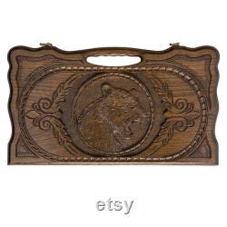 PRÊT À EXPÉDIER Arménien Handmade Backgammon Tiger Set Jeu de société Main sculptée dans le bois de noyer naturel, Nardy, Cadeau pour lui