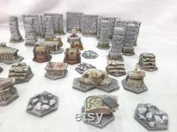 Pack de terrain Gloomhaven Dungeon, peint et PRÊT À JOUER, 32 pièces de résine