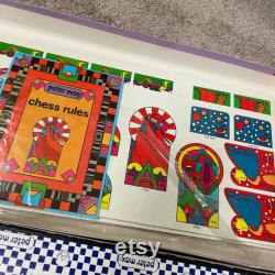 Peter Max jeu de plateau signé jeu de plateau vintage
