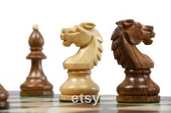 Pièces d échecs Reproduit vintage des années 1950 Circa Bohemia Staunton Series Allemand à Sheesham and Box Wood 3.89 King