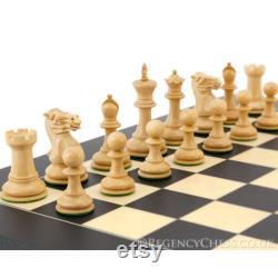 Pièces d échecs Staunton Ebène série Highgrove 3 pouces