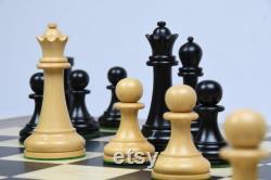 Pièces d échecs reproduites 1963-1966 Piatigorsky Cup en ébène Bois de boîte 4.2 King
