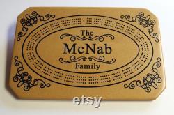 Planche de cribbage sur mesure personnalisé avec nom et ou, le logo. Fabriqué à partir de bois de moyenne densité panneaux de fibres (MDF). Cadeau pour elle ou lui