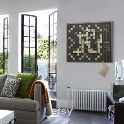 Plateau de jeu de Scrabble mural mural Décor d art mural en métal Jouez sur le mur