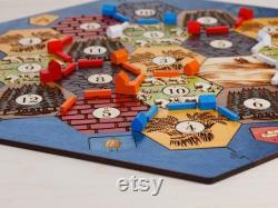 Plateau de jeu en bois Classique 3-4 ou 3-6 Player, Laser Cut, Personnalisé