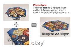 Plateau de jeu en bois Classique Extension 5-6 Player (Add-on), Laser Cut, Personalized