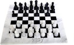 Queen s Gambit Handmade 16 inch Marble Chess Set Indoor Adult Chess Game Marble Chess Board Handcraft 16 Premium Top Quality Chess Board