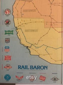 Rare 1977 Rail Baron Game of Building Railroad Empires GA-295 Complete