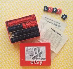 Rare Original des années 1940 Typ-Dom Wordfaud Jeu de société de collection Made in Austria vintage Complete Crossword 2-5 Joueurs Age 6 Cadeau