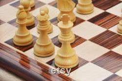Reproduit Fran ais Pièces d'échecs exclusives Lardy en bois de rose Bois de boîte 3.75 SKU S1242R
