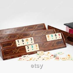 Rummikub personnalisé, ensemble rummikub personnalisé, rummikub personnalisé, ensemble Rummikub, jeu Rummikub, ensemble cube Rummy, ensemble rummikub en bois