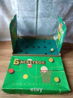 Russie soviétique vintage Board Game Basketball Original Box jouet URSS